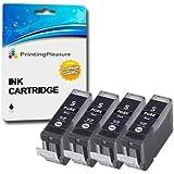 4 Compatible PGI-5BK Ink Cartridges for Canon Pixma MP500 MP530 MP600 MP600R MP610 MP800 MP800R MP810 MP830 MP950 MP960 MP970 iP4200 iP4300 iP4500 iP5100 iP5200 iP5200R iP5300 - Black, High Capacity