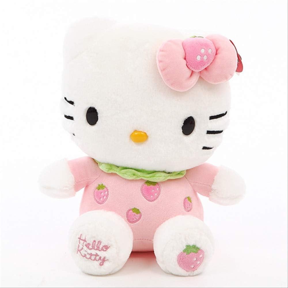 N|A Kawaii Hello Kitty Animales De Peluche Juguetes De Peluche Niña Durmiendo En La Cama Almohada Grande Brinquedos Regalo De Cumpleaños 45cm Rosado