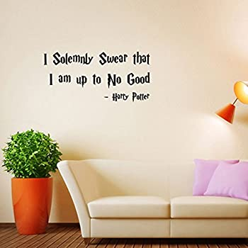 Vinyl Wall Decal Sticker  I Solemnly Swear That I Am Up To No Good Harry : harry potter quote wall decals - www.pureclipart.com