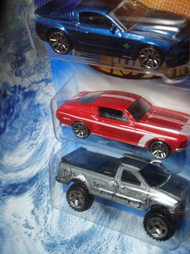 Hot Wheels Detailed Diecast Ford Shelby GT-500 Super Snake - '67 Custom Mustang - F-150 Pick Up 1/64 (Super Gt Gt500)