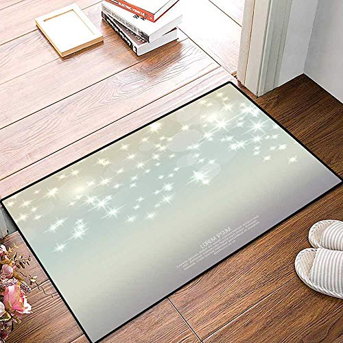 muyunshangmao Bath Mat Abstract Blurred Background with Sparkle stars5.jpg Door Mats for Inside Bathroom Mat Non Slip Backing 32