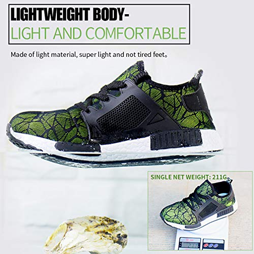 Coou De Para Green Zapatillas Calzado S3 Ligeras Style Trabajo Seguridad 701 Comodas Hombre OOqZAxS