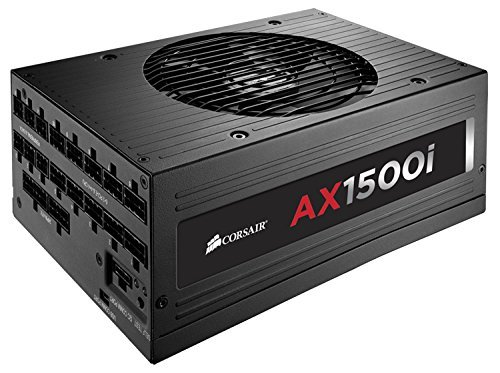 CORSAIR AX1500i 1500W ATX12V / EPS12V 80 PLUS Titanium Certified Full Modular Power Supply. Model CP-9020057-NA