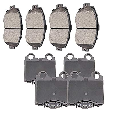 SCITOO Ceramic Front Rear Disc Brake Pad Set fit for 1998-2005 Lexus GS300, 1998-2000 Lexus GS400, 2001-2005 Lexus GS430, 2001-2005 Lexus IS300, 2002-2010 Lexus SC430: Automotive
