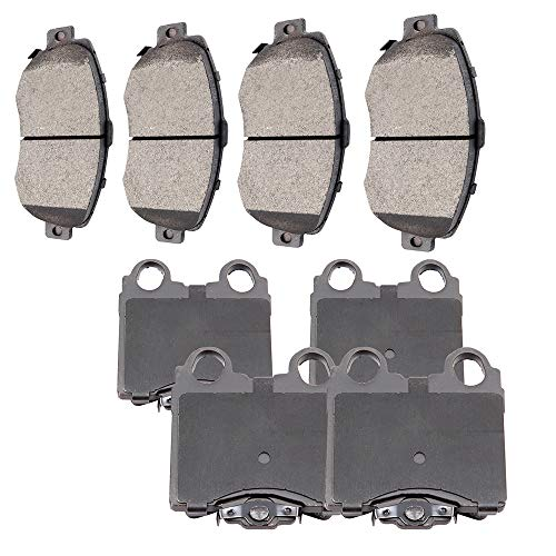 SCITOO 8pcs Front Rear Ceramic Brake Pads fit for 1998-2005 Lexus GS300,1998-2000 Lexus GS400,2001-2005 Lexus GS430,2001-2005 Lexus IS300,2002-2010 Lexus SC430