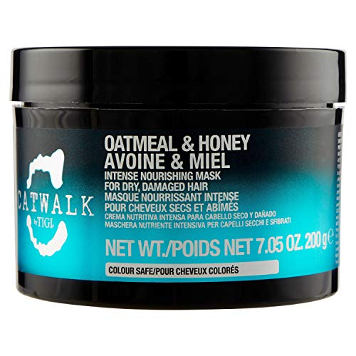 Tigi Catwalk Oatmeal and Honey Intense Nourishing Mask for Unisex, 7.05 Ounce (Tigi Oatmeal And Honey Shampoo And Conditioner)