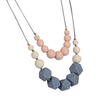 Amazon domire nk dm005 silicone baby teething necklace for mom to domire nk dm005 silicone baby teething necklace for mom to wear bpa free and mozeypictures Images