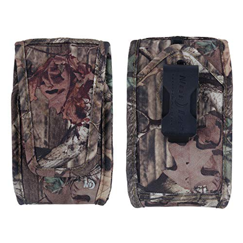 Nite Ize Clip Case Cargo Phone Holster - Protective, Clippable Phone Holder for Your Belt Or Waistband - Double Wide - Mossy Oak