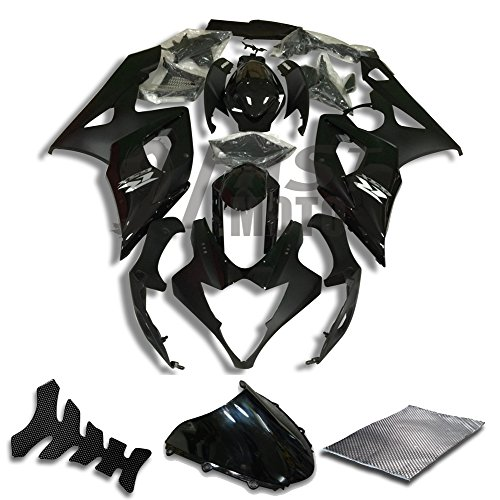 9FastMoto Fairings for suzuki 2005 2006 K5 GSXR1000 GSXR 1000 05 06 GSX R1000 K5 Motorcycle Fairing Kit ABS Injection Set Sportbike Cowls Panels (Black) S0776