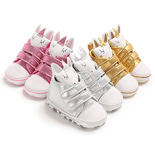 Toddler Baby Boys Girls High-Top Sneakers Warm Soft Sole Cartoon First Walkers Shoes