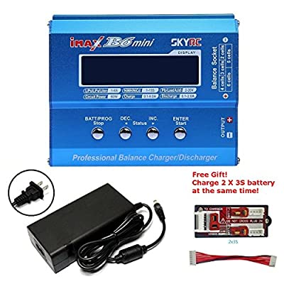SKYRC iMAX B6 Mini Professional Balance Charger/Discharger for Nimh/Li-po Batteries match with power adapter