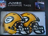 Jumbo Green Bay Packers Luggage Tags Set...
