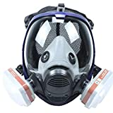 REBUNE 7 In 1 Set Full Face Gas Mask Full Facepiece Respirator For Painting Spraying Protection Tool