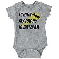 Brisco Brands My Daddy is Bat Mono del Día del Padre Comic Hero Romper