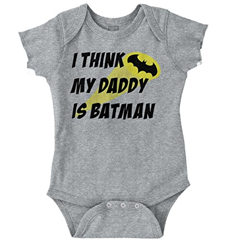 Brisco Brands My Daddy is Bat Cute Fathers Day Comic Hero Romper Bodysuit for $<!--$9.99-->