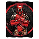 Marvel's Deadpool, ''Tough Guy'' Micro Raschel Throw Blanket, 46'' x 60'', Multi Color