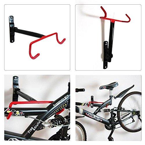 Agile-shop Bike Wall Mount Rack Storage Hanger Solid steel Wall Frame Bike Bicycle Hanger Hook by Agile-shop (Image #5)