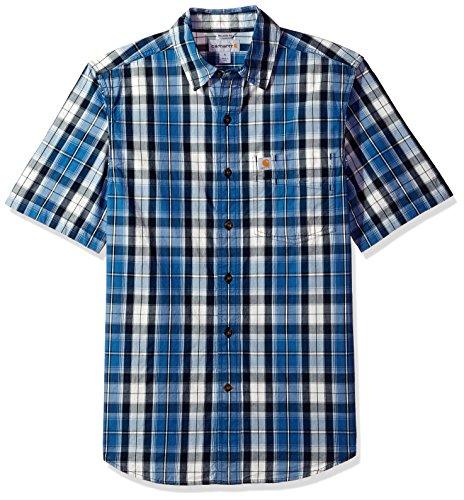 Carhartt Mens Essential Plaid Button-Down Short Sleeve Shirt