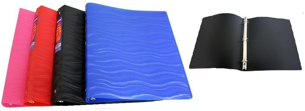 1 Inch Poly Flexi Binder - Wave Design 48 pcs sku# 1858902MA