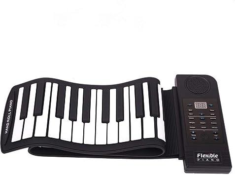 FEE-ZC Piano de Mano Plegable portátil 61 Teclas Smart ...