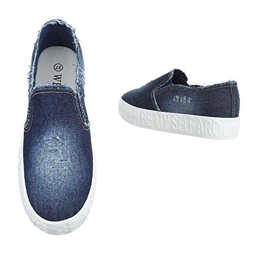 Ital-Design - Zapatillas de casa Mujer Blau FYM-103