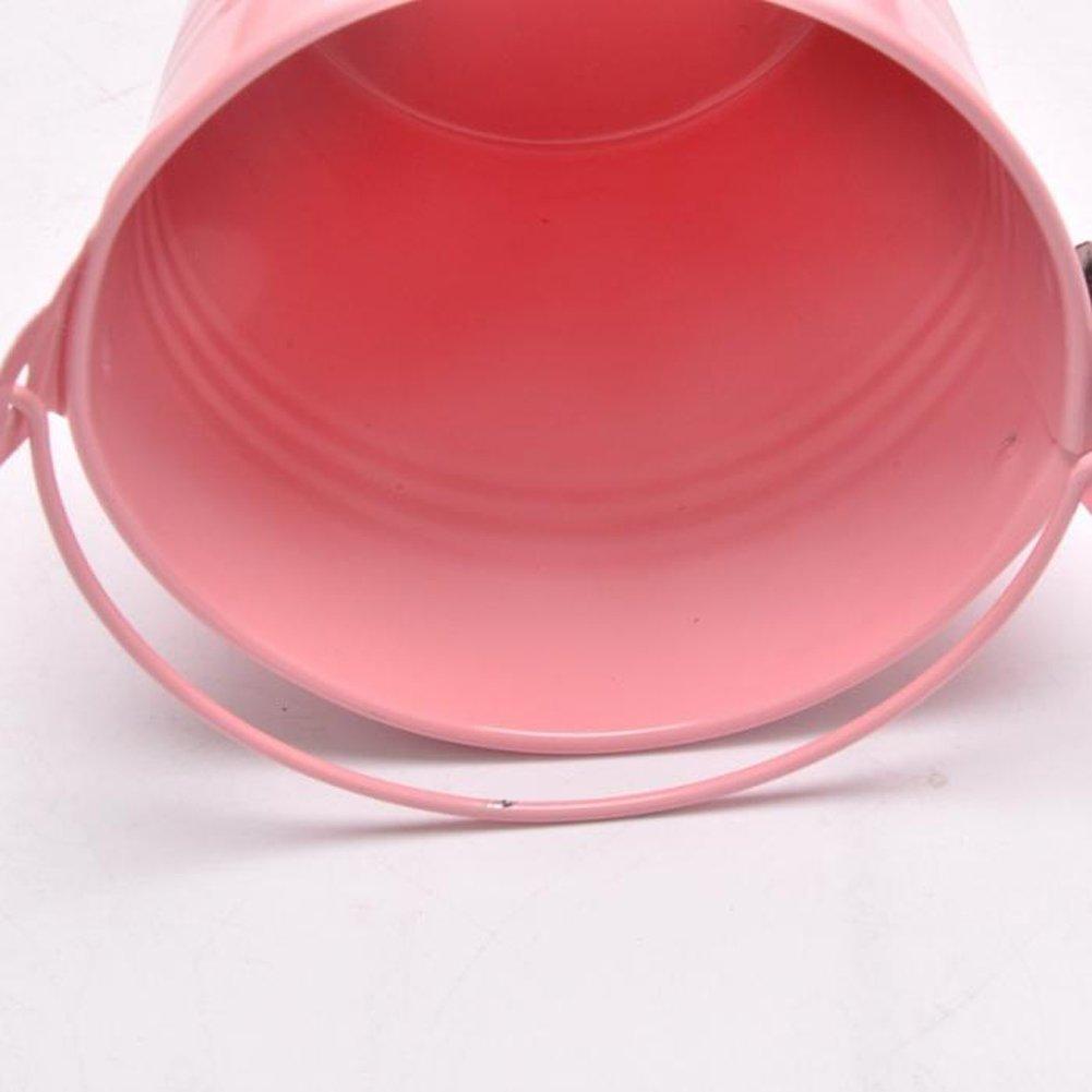 5.6 6.1cm Valink 12 Pz Colorato Mini Secchio Candy Bomboniere Scatola Secchio Metallo Secchio Piccolo Scrivania Stoage Secchio Festa Matrimonio Regali Forniture