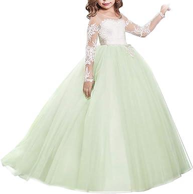Baby Girls Mint Lace Tulle Rhinestone Dress Princess Birthday Party Wedding Gift