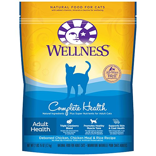 Wellness Complete Health Natural Dry Cat Food, Deboned Chicken, Chicken Meal & Rice Recipe, 2.9-Pound Bag