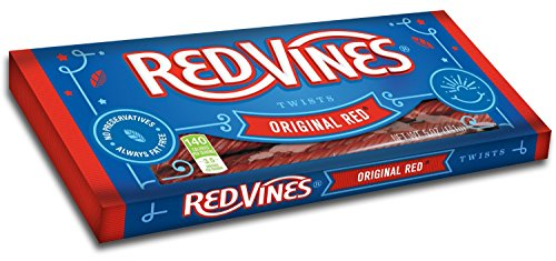 - Red Vines Licorice Twists 5 oz Tray (Pack of 4) (Original Red)