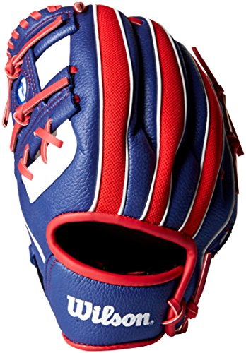 Wilson A200 MLB Logo T-Ball Baseball Glove, Left Hand Throw, -