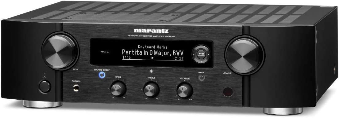 Marantz PM7000N Integrated Stereo Hi-Fi Amplifier HEOS Built-in Supports Digital Analog Sources Compatible with Amazon Alexa Phono Input