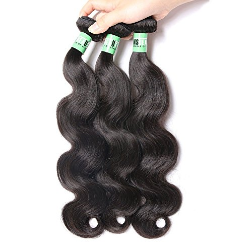 Msbeauty 10A Peruvian Hair 3 Bundles Body Wave Virgin Human Hair Weave 18 20 22 inch 300g/lot Natural Color ()
