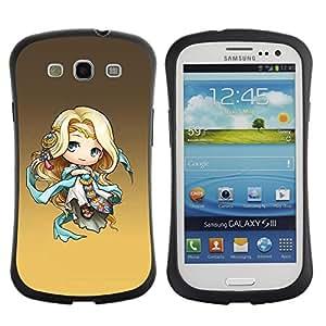 Fuerte Suave TPU GEL Caso Carcasa de Protección Funda para Samsung Galaxy S3 I9300 / Business Style Cute Fantasy Princess