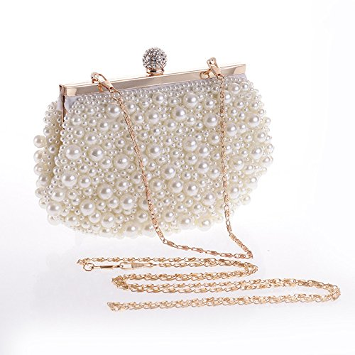 Dinner Bag White Fine White Craft Embroidery Embroidery Pearl Bag Fine wBHOPg