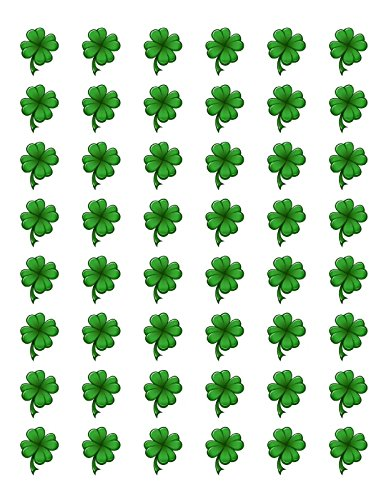 """48 SHAMROCK CLOVER ST PATRICKS DAY ENVELOPE SEALS LABELS STICKERS 1.2"""" ROUND Byu - Edwin Group of Companies."""