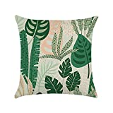 Wnakeli Pillow Case Pillow Cover Protector Floral Waist Throw Pillow Case Cushion Cover for Sofa Bed Office Car Home Decoration 45X45CM 1Pcs