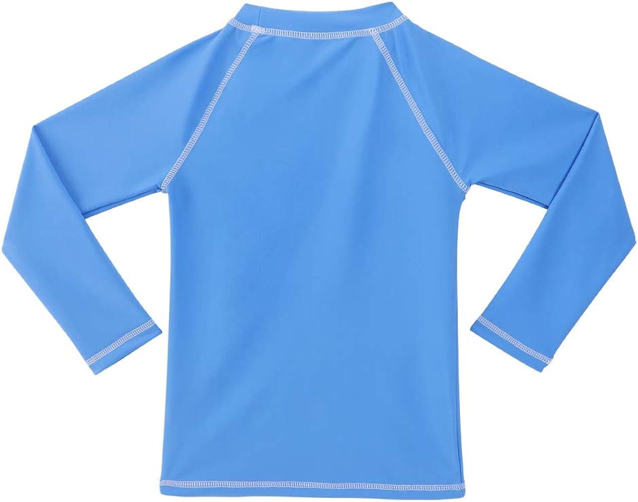 TIZAX Camiseta UV de Manga Larga para niños Traje de baño con UPF 50+ protección Solar Rashguard para Surf/Nadando/Buceo/Playa Azul 104: Amazon.es: Ropa y accesorios