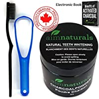 Natural Teeth Whitening Activated Charcoal Powder | Premium Raw 100% Pure Natural Coconut Charcoal Powder