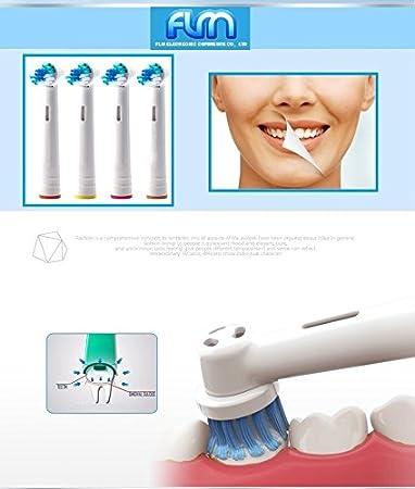 FLM Vitality Precision Clean EB17B - Cabezal de recambio para cepillo de dientes eléctrico compatibles con Braun Oral B, 4 unidades: Amazon.es: Salud y ...