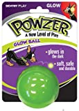 Powzer Hi-Vis Large Glow Ball Interactive Dog Toy, 3-1/2-Inch (1 Ball), My Pet Supplies