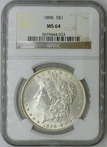1896 P Morgan $1 MS64 NGC Silver Dollar Old US Coin 90% Silver