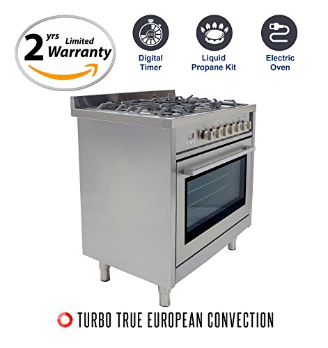 36 gas range with electric oven - 4