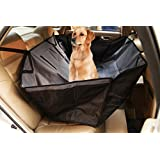 Jespet Waterproof Hammock Back Seat Cover for Pets - Travel Hammock Style Cover Protects Car Back Seat from Dog Fur, Mud, Scratches