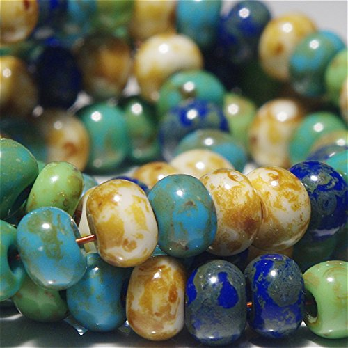 3 Seed Bead - 20 g Picasso Travertine 3/0 Czech Glass Seed Beads 'Spring Flowers' Mix