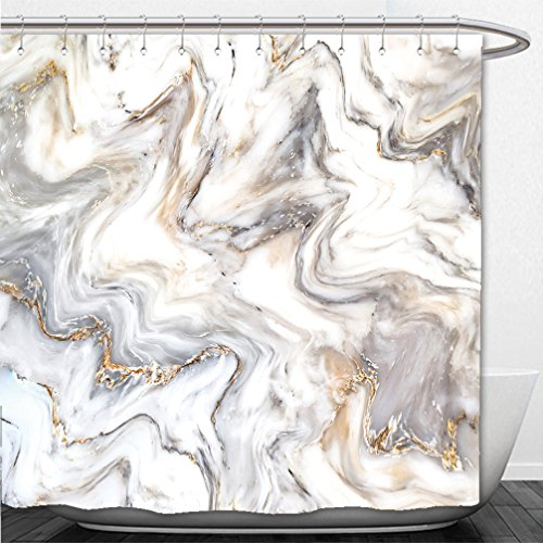 Interestlee Shower Curtain marble ink texture background pattern can used for wallpaper or skin wall tile luxurious 521543236