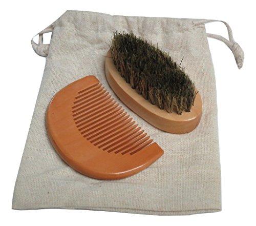 TrendyLuz Wooden Travel Set of Wood Comb & Brush for Head Fa