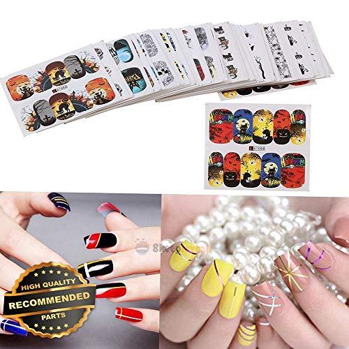 Gatton Premium New 48pcs Set Halloween Nail Art Transfer Decals Sticker Design Manicure Decor Tips | Style MNCRSET-301122488