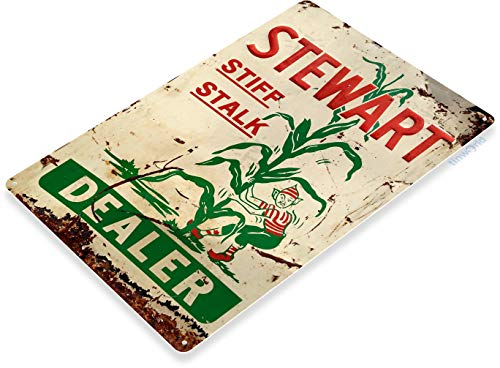 "Tin Sign Store Feed (Tinworld TIN Sign ""Stewart Dealer Stalk Corn Metal Decor Art Farm Shop Feed Store A742)"