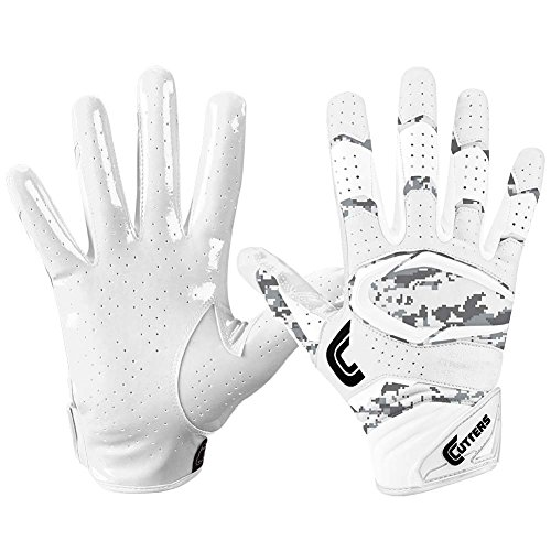Cutters Gloves S451 Rev Pro 2.0 Receiver Cornerback Gloves With C-Tack Grip, WHITE/CAMO, Adult XL (Grip Cutter)