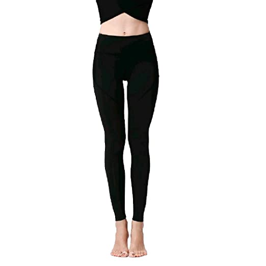 38ad455d2c018 Nicelly Women Outdoor Running Sports High Waist Pants Tights Leggings Black  XS